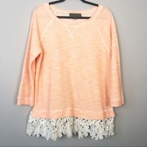 Anthropologie | Sunday in Brooklyn | Lace Trim Top